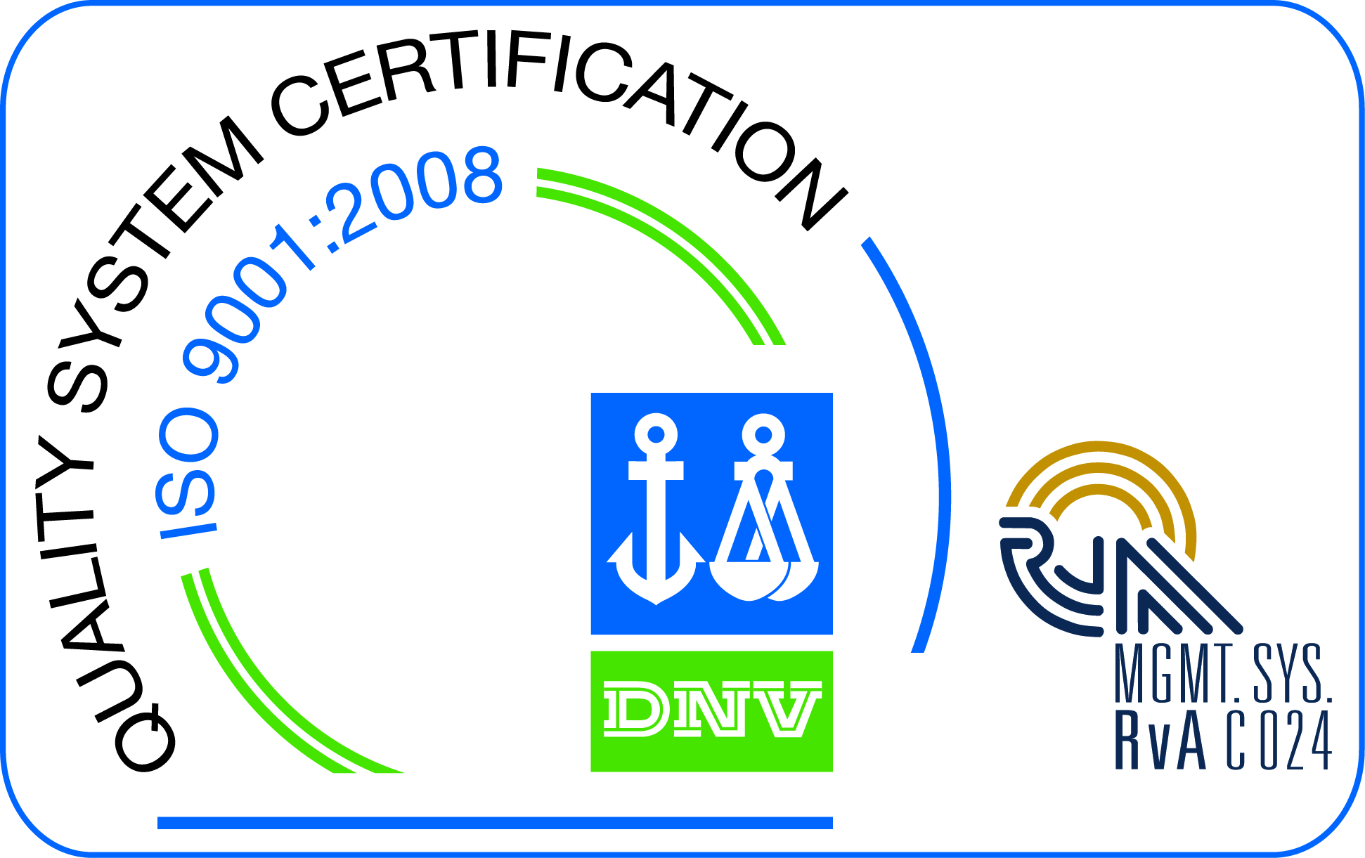 See a copy of Trinity Forge's RvA certificate to ISO-9001:2008